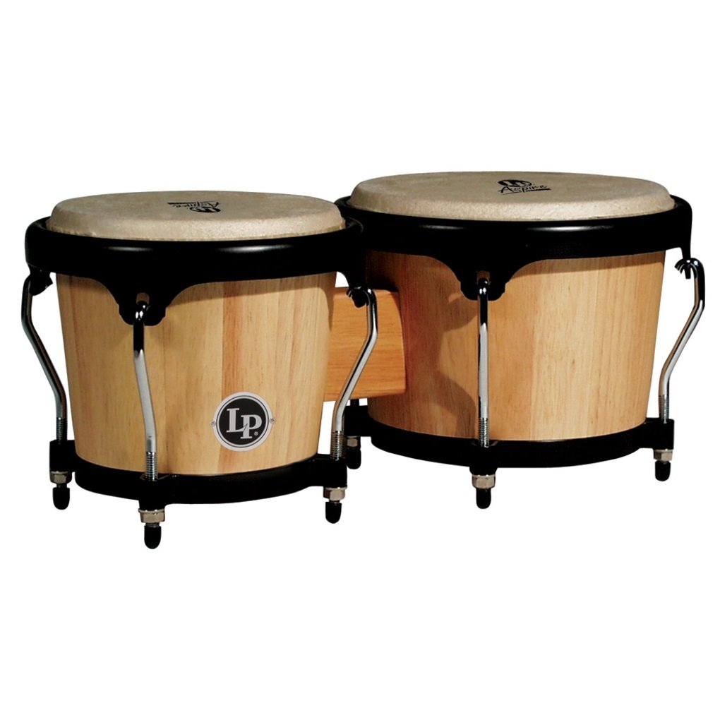 LP ASPIRE Series Wood Bongos Natural LPA601-AW Latin Percussion