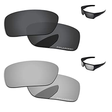 22f599dd3d6 PapaViva Lenses Replacement for Oakley Si Ballistic Det Cord Black Grey   Chrome  Silver