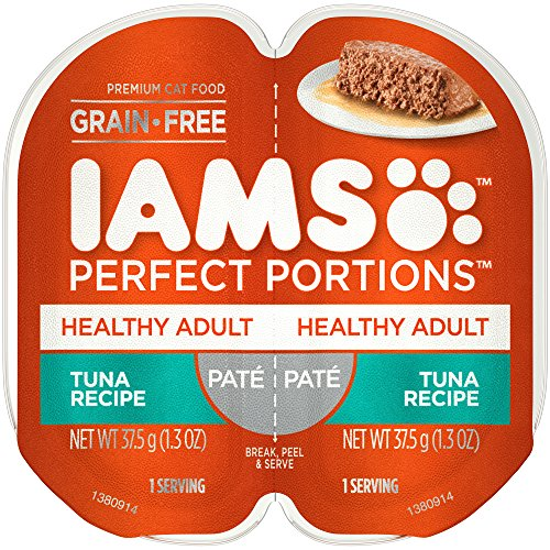 Iams Perfect Portions Grain Free Adult Wet Cat Food Paté Tu