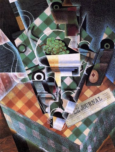 Art Oyster Juan Gris Still Life with Checked Tablecloth - 21.1