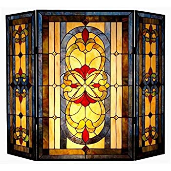 Amazon.com: Chloe Lighting Tiffany-Glass 3pcs Folding Victorian ...