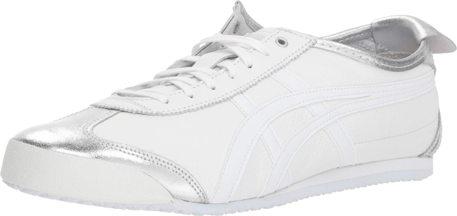 sports shoes 24a61 29ebd Onitsuka Tiger by Asics Unisex Mexico 66 Silver/White 11 Women / 9.5 Men M  US Medium
