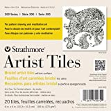 Strathmore 300 Series Bristol Artist Tiles, Vellum, 4 x 4 Inches, White, 20 Sheets