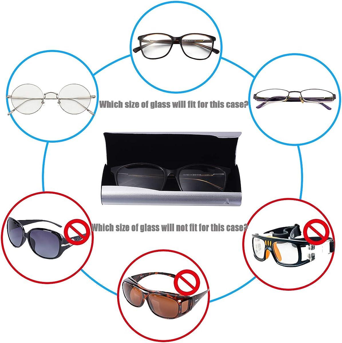 aluminio, ligera Philley dise/ño delgado y r/ígido Funda para gafas