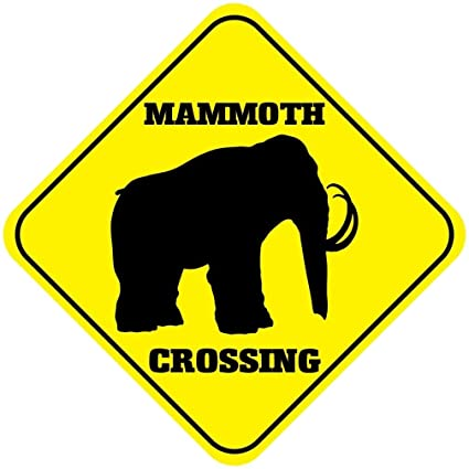 Elephant Crossing Funny Metal Aluminum Novelty Sign