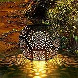 Farol Solar Exterior Jardin GolWof LED Lámpara Solar Jardín Luz Solar Exterio Luces de Linterna Solar Lámpara de…