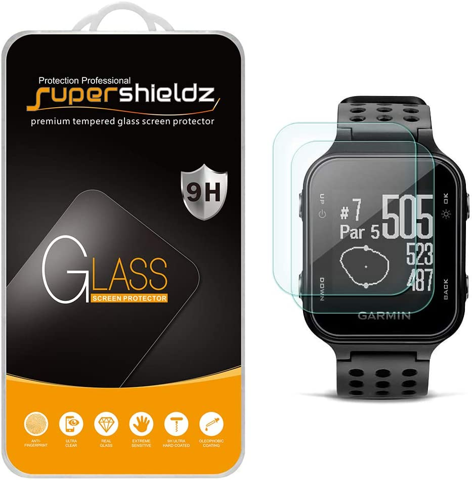 2 Pack Supershieldz for Garmin Approach S20 Tempered Glass Screen Protector Bubble Free Anti Scratch