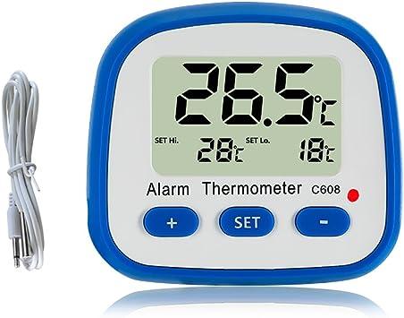 Digitalanzeige Thermometer New Digital LCD K/ühlschrank Temperatur K/ühlschrank mit Gefrierfach Raum-Thermometer mit Magneten und Stand