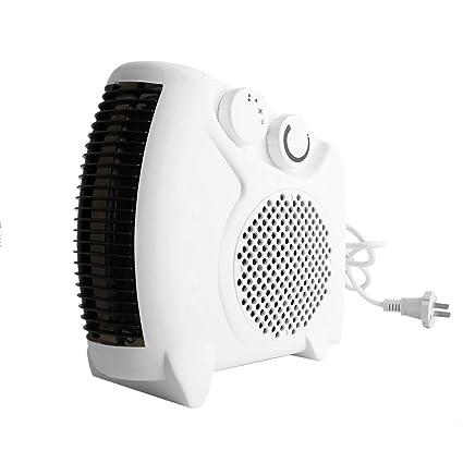 Mini Calentador Eléctrico Portátil Baño Ventilador de Aire Caliente Ventilador Hogar Calentador Termostato Ajustable 800 W