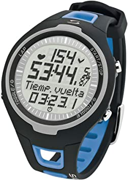 Sigma PC 15.11 - Pulsómetro analógico unisex (contador de caloriás, contador de 50 vueltas, frecuencia cardiáca), Azul/Negro, Talla única: Amazon.es: Deportes y aire libre