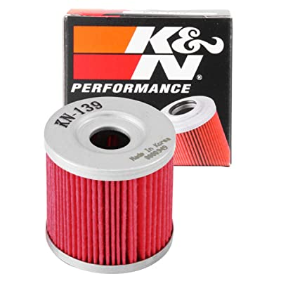 K&N Motorcycle Oil Filter: High Performance, Premium, Designed to be used with Synthetic or Conventional Oils: Fits Select Suzuki, Arctic Cat, Kawasaki Vehicles, KN-139: Automotive