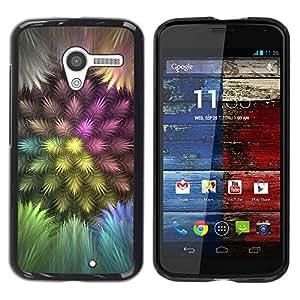 Carcasa Funda Prima Delgada SLIM Casa Case Bandera Cover Shell para Motorola Moto X 1 1st GEN I XT1058 XT1053 XT1052 XT1056 XT1060 XT1055 / Business Style Colorful Feathers