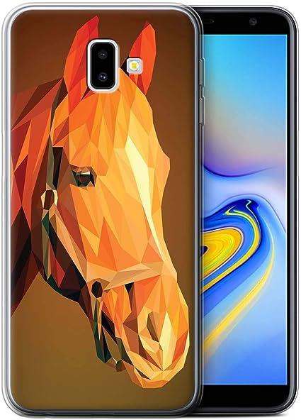Coque pour Samsung Galaxy J6 Plus 2018/J610 Animal Géométrique ...