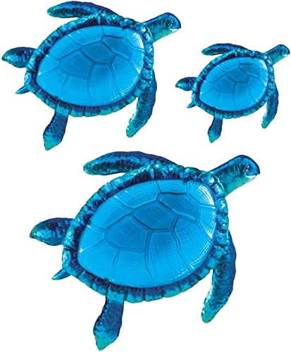 Comfy Hour Coastal Ocean Sea Turtles Hanging Wall Art Decor Set 3 Piece