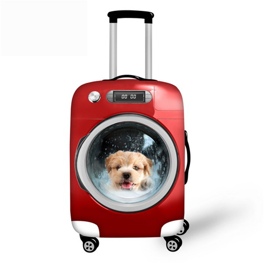 CHAQLIN Funny Pet Dog Cat Travel Luggage Protector Cover for 18-30 inch Suitecase S-C003SML
