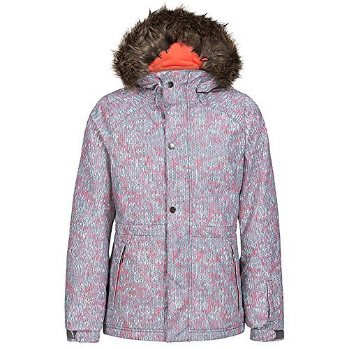 O'Neill Crystal Jacket - Girls' Grey/White, 8 by O'Neill