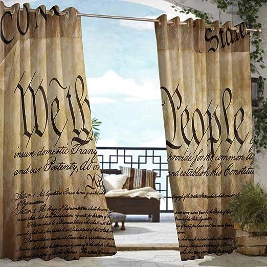 DILITECK - Cortina para pérgola, diseño de la Bandera de Estados Unidos: Amazon.es: Jardín