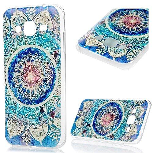 J3 Case,Samsung Galaxy J3 Case (2015 Version) - Soft TPU Rubber Skin Gel Bumper Cute Cartoon Patterns Design Slim Fit Colorful Print Prptective Cover by (Cute Halloween Print Outs)