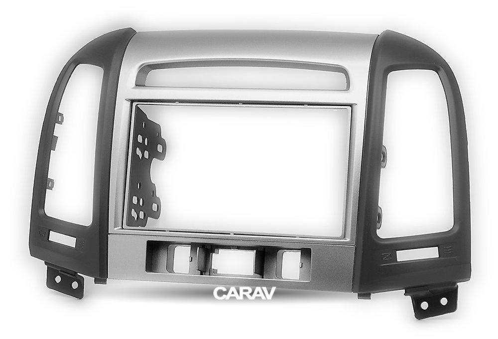Carav 11-716 Double din installation dash kit dash installation kit Radio Stereo Facia Fascia Panel Frame DVD Player Dash Install Panel for HYUNDAI Santa Fe 2006-2012 with 17398mm 178100mm 178102mm