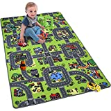Softlife Kids Carpet Play Mat Rug Large 48' x 72' City Life Great for Playing with Cars and Toys Children Area Rugs for Bedroom Playroom Nursery
