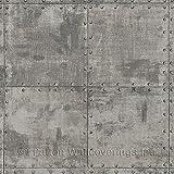 Norwall LL36224 Steel Tile Wallpaper