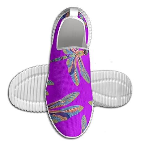 Colorful DragonFly Men Slip-On Loafers Fashion Stitched Walking Sneakers