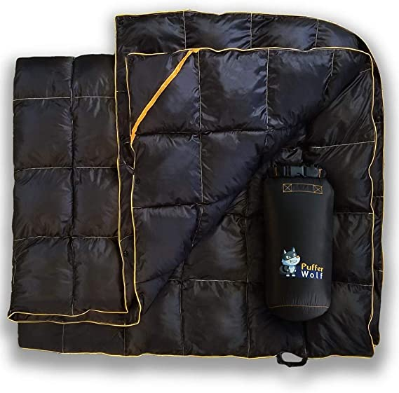 PUFFER WOLF | Extra Large - The Best Puffy Camping Blanket
