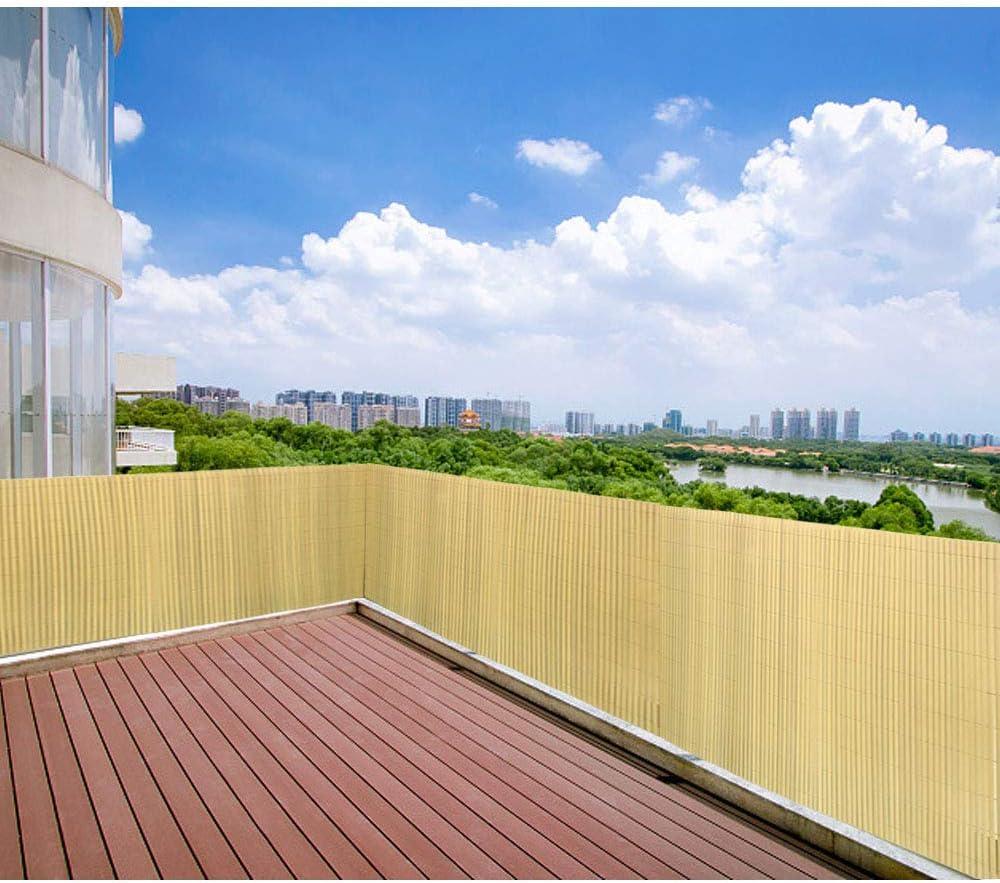 Balcone e terrazza Canniccio Protezione Tappetino Frangivista Frangivento Antivento 400x160cm Aufun PVC Recinzione paravista per Giardino bamb/ù
