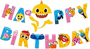 Baby-Shark Happy 1st Birthday Party Supplies Shark Themed Party Decoration for Baby Boys