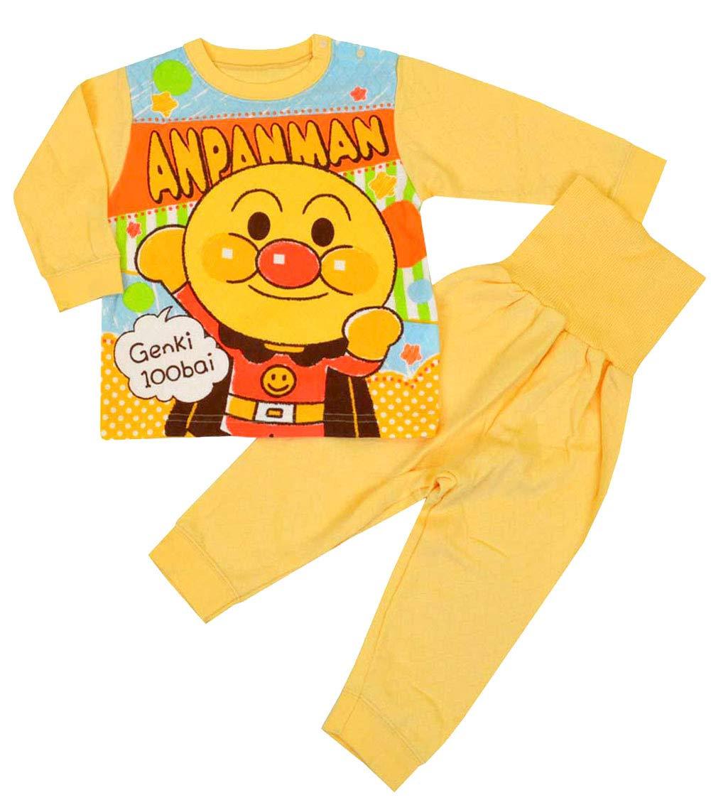 アンパンマン パジャマ 腹巻 長袖 4キャラ ニットキルト素材 パジャマ j,kuz45 95cm それいけ!アンパンマン