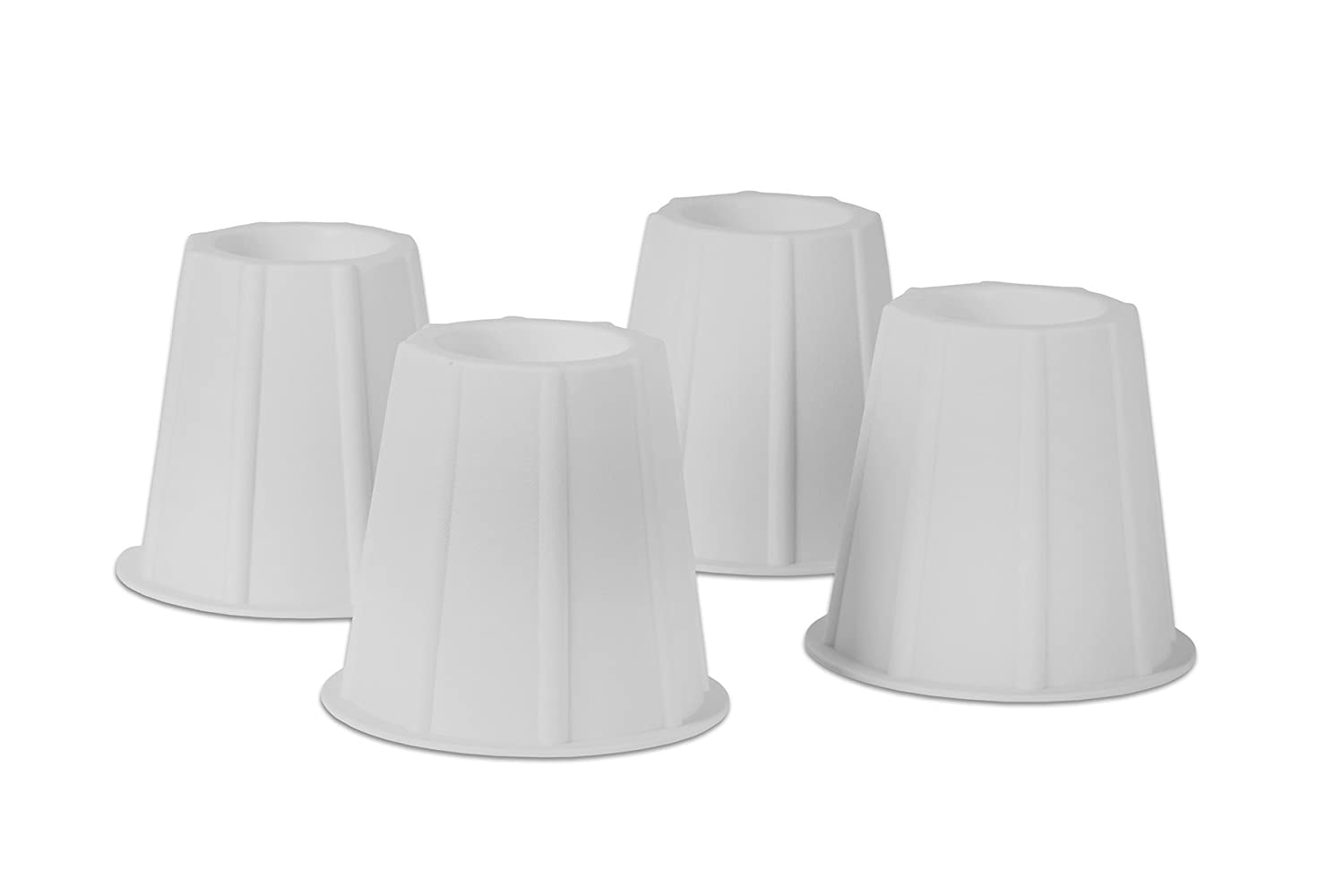 Home-it® 5 to 6-inch SUPER QUALITY bed risers, White round shaped, bed riser helps you storage under the bed 4-pack