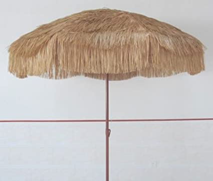 Impact Canopy 8 Foot Tiki Hut Hawaiian Pool Patio Umbrella, Outdoor Beach  Hula Umbrella,