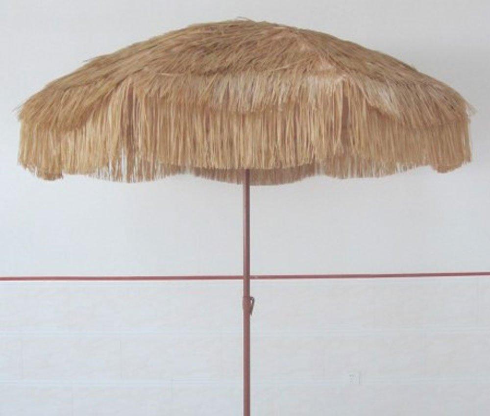 Impact Canopy Hawaiian Tiki Umbrella for Pool, Patio, or Beach, 8 Feet