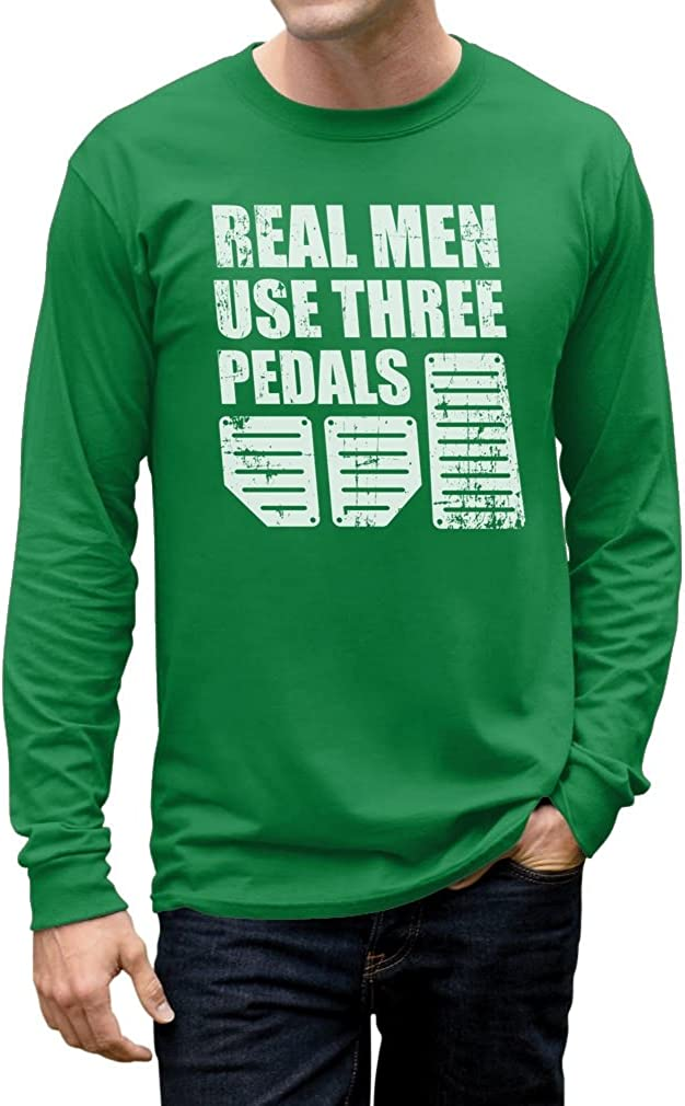 Real Men Use Three Pedals Cool Racing Funny Long Sleeve T-Shirt Tstars