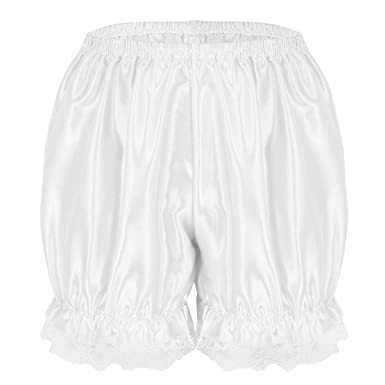 iiniim Short de Sécurité Femme Fille Satin Dentelle Bloomer Legging Court  Pantalon de Soiree Citrouille Pantacourt dc4d3ea568b