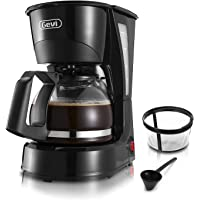 Gevi 4 Cups Small Coffee Maker, Compact Coffee Machine with Reusable Filter, Warming Plate and Coffee Pot for Home and…