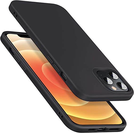 ESR Silicone Case Compatible with iPhone 12/iPhone 12 Pro (2020) [Liquid Silicone Rubber Mobile Phone Case] [Shock Absorbing & Comfortable Grip] [Display & Camera Protection] Compatible with iPhone 12/Pro - Black: Amazon.de: Elektronik