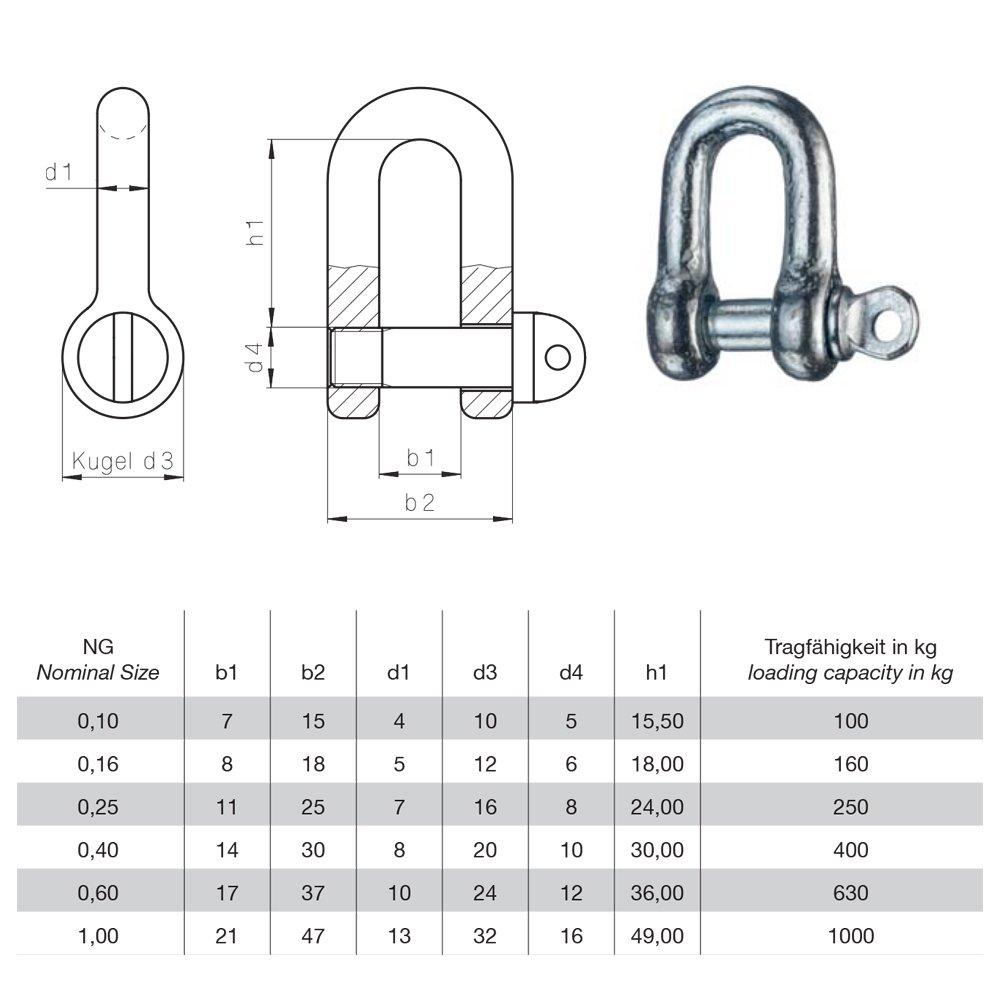 Sch Akel 6mm Din 82101 Form A Mit Schraub Bolzen Stahl Verzinkt