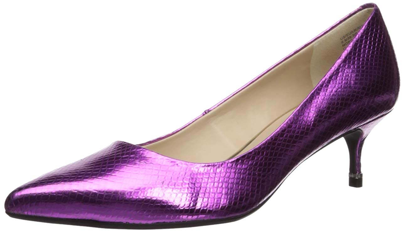 Fuchsia Kenneth Cole New York Womens Morgan Kitten Heel Pump Pump