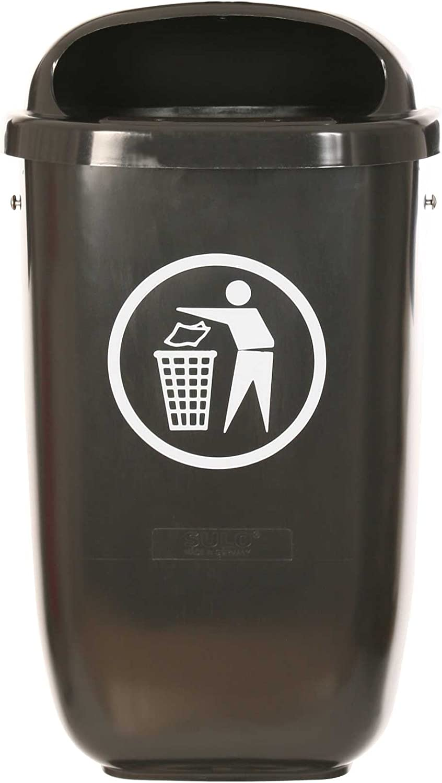 SCF GmbH Kunststoff Abfallbehälter in RAL 7021 Schwarzgrau