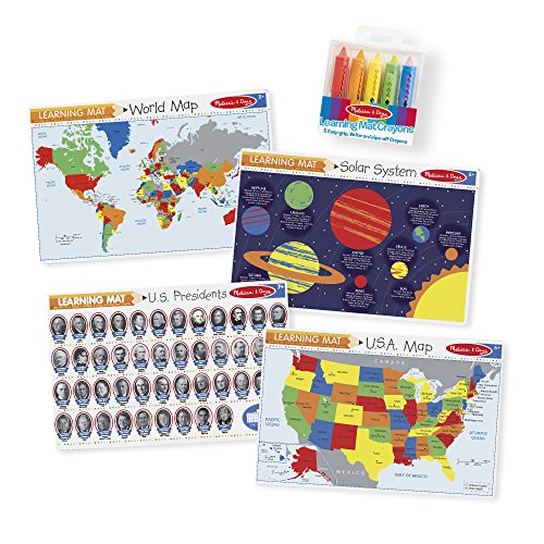 Melissa & Doug Advanced Subject Skills Placemat Set: United States,