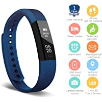 HolyHigh YG3 Fitness Tracker Band withno Heart Rate Monitor for Men Women Kids Smart Fitness Watch with Pedometer Calories Counter Sleep Monitor Facebook Whatsapp Call Alarm Notifications