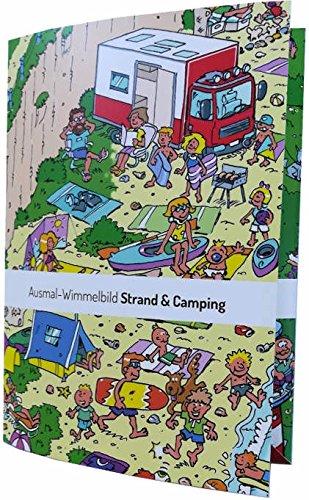 Kollektion Einraumwohnung Ausmalposter Wimmelbild Strand & Camping ...