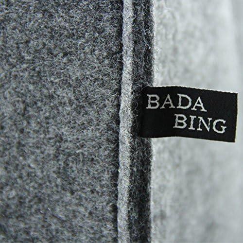 Bada Bing 2er Set Filzkorb Filz Tasche Aufbewahrung ANTHRAZIT Quadratisch Stabiler Korb F/ür Regalsysteme 14