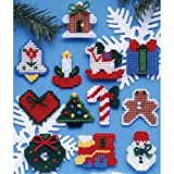 Tobin Country Christmas Ornaments Plastic Canvas Kit, 7 Count