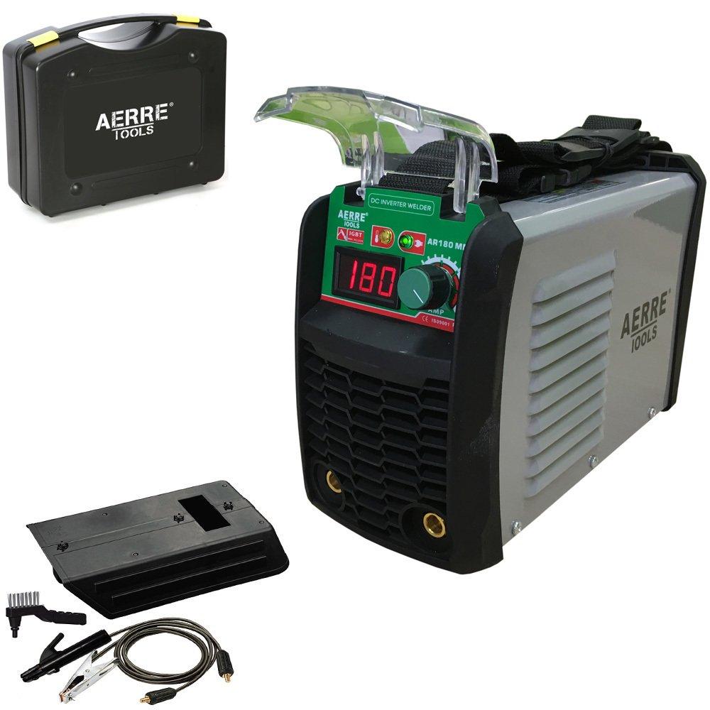 Soldador inverter de electrodo aerre 180 A MMA TIG con kit accesorios y maleta: Amazon.es: Amazon.es