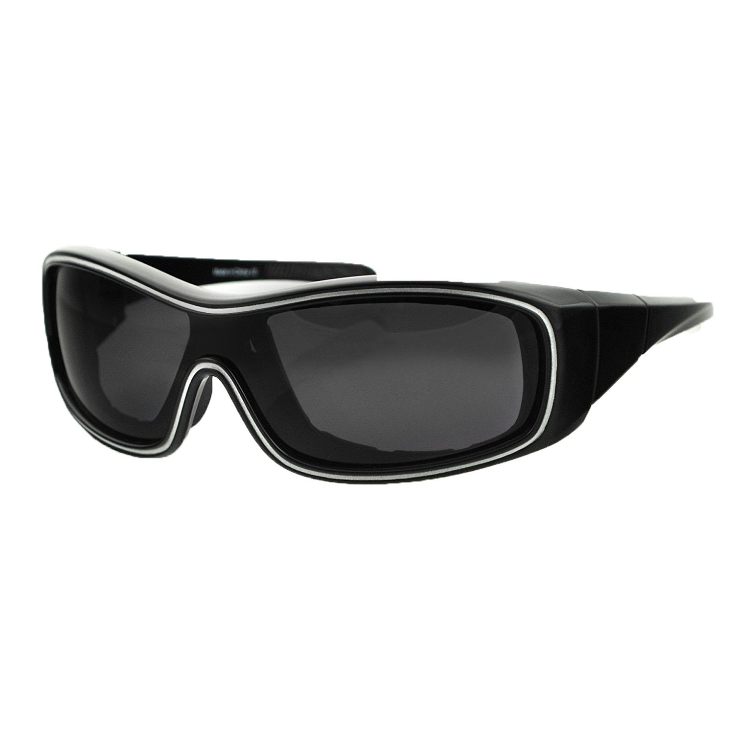 Bobster Zoe Convertible Oval Sunglasses,Black Frame/Smoked Anti Fog Lens,One Size