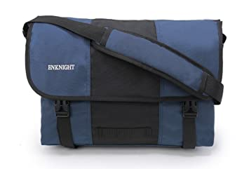 4db8a08626 Image Unavailable. Image not available for. Colour  ENKNIGHT Classic Messenger  Bag Big Briefcase Shoulder Laptop Bag Cross body Bags Navy Black
