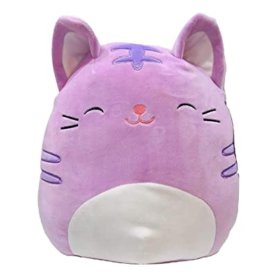Squishmallow Kellytoy 11 Inch Tabitha The Purple Tabby Cat- Super Soft Plush Toy Animal Pillow Pal Pillow Buddy Stuffed Animal Birthday Gift Holiday: Toys & Games