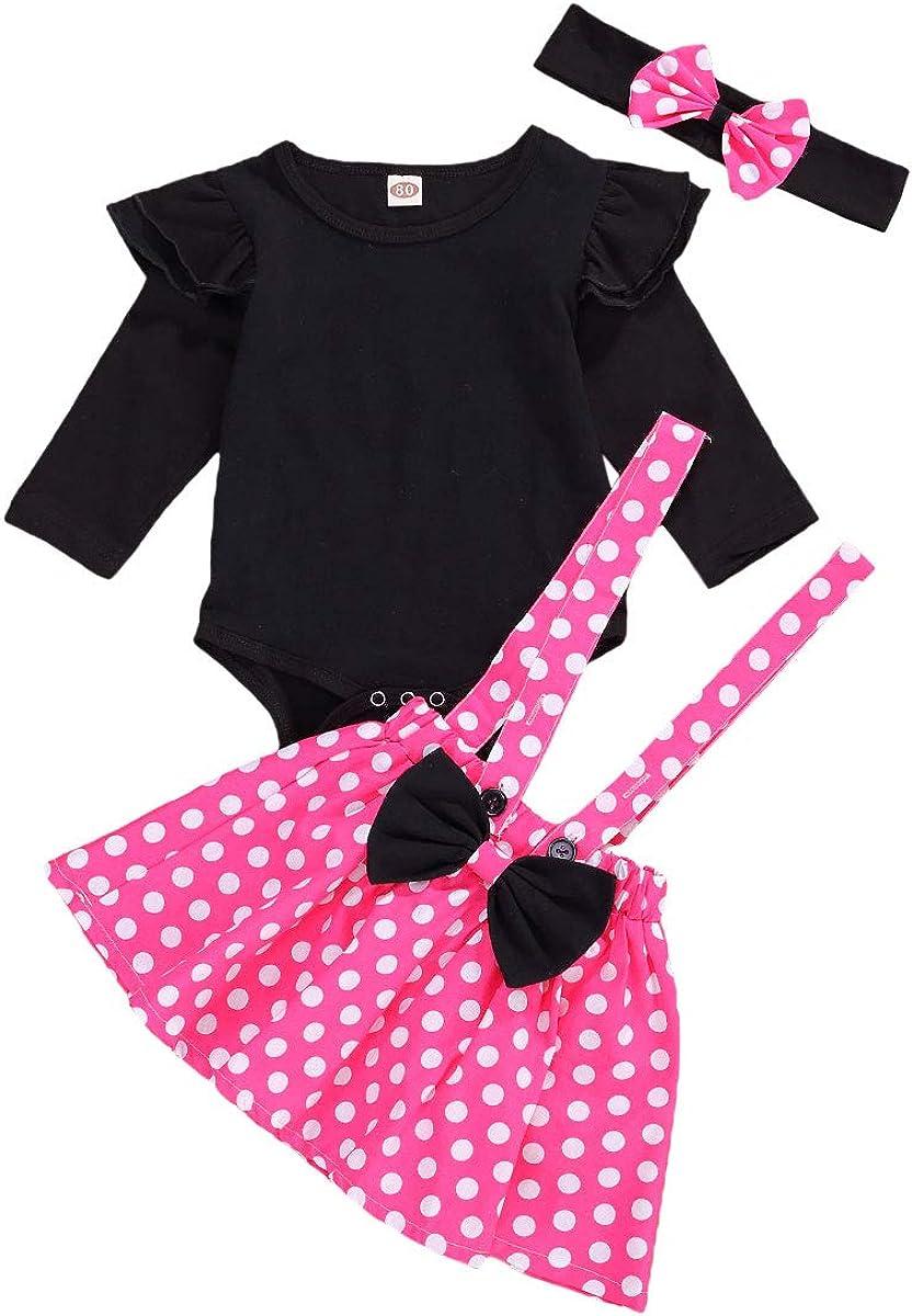 pantal/ón estampado floral Carolilly Conjunto de ropa para beb/é ni/ña de 3 piezas de manga larga con estampado de mam/á s Gires 0-24 meses diadema